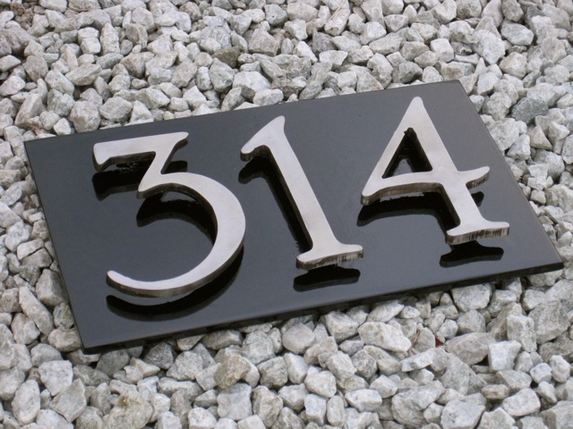 Steel House Numbers