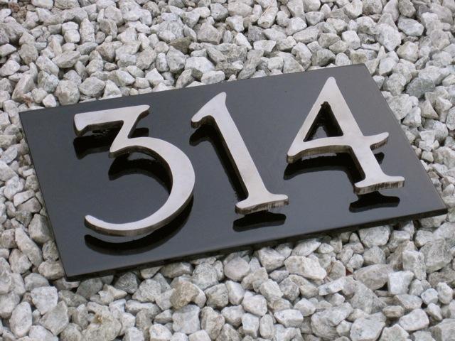 Steel House Numbers